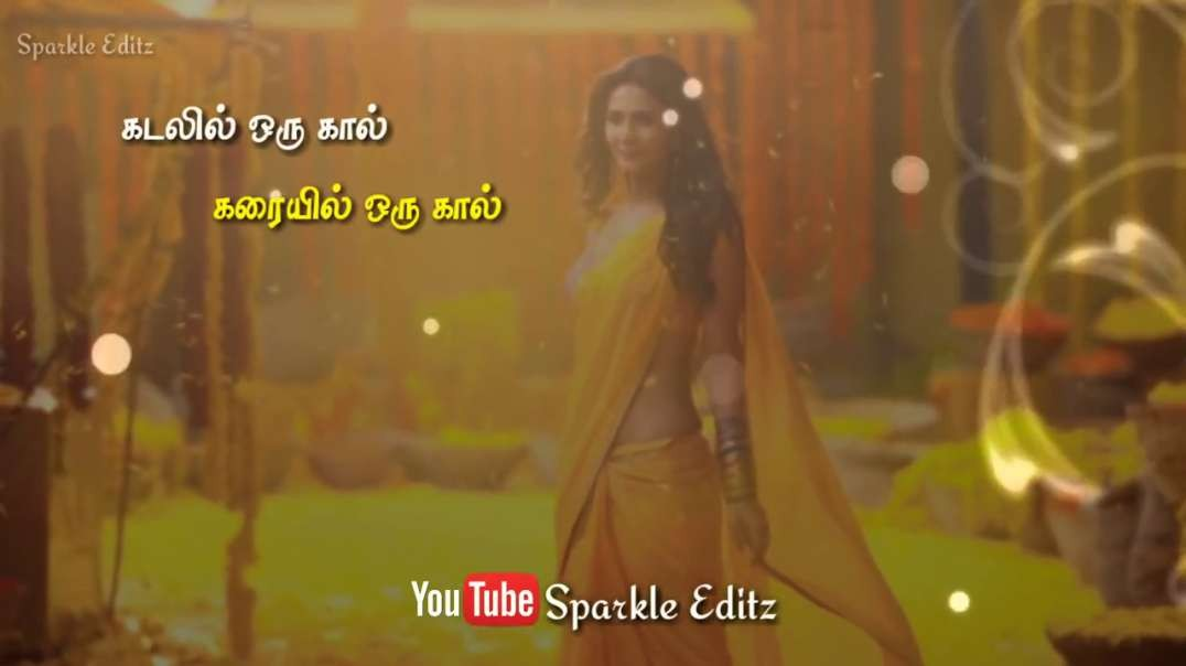 Mazhayin Saaralil Song | Female Love Tamil Whatsapp Status | Lyrical Video